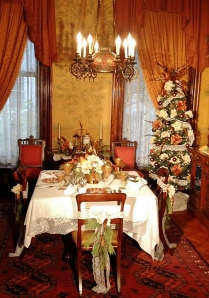 Formal dining room, decorated by local designer Keith Bauer.